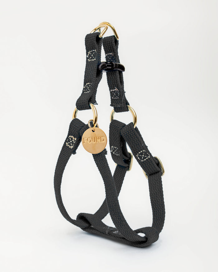 FOUND MY ANIMAL | Cotton Webbing Harness in Black