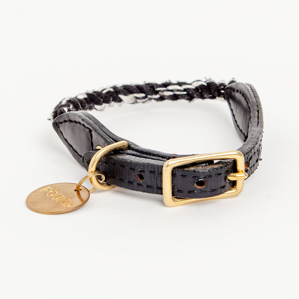 Rope Collar in Black and White (FINAL SALE)