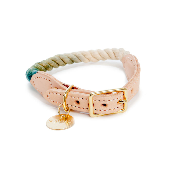 FOUND MY ANIMAL | Rope Collar in Catskill Ombre
