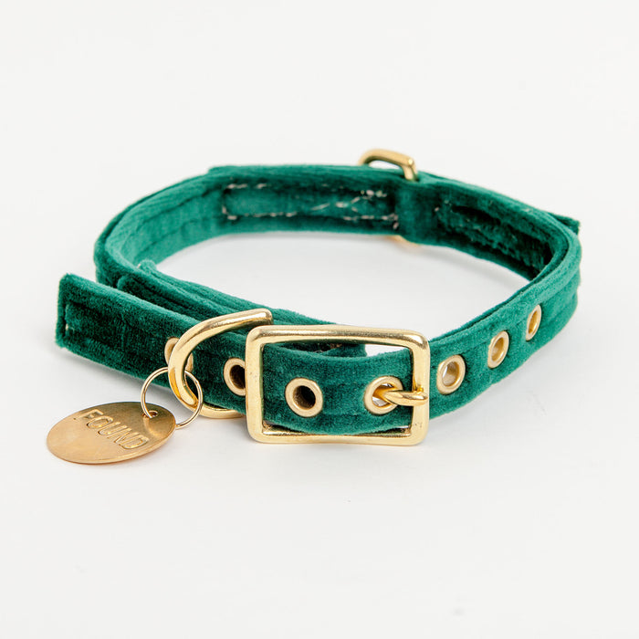 FOUND MY ANIMAL | Velvet Collar in Emerald Green