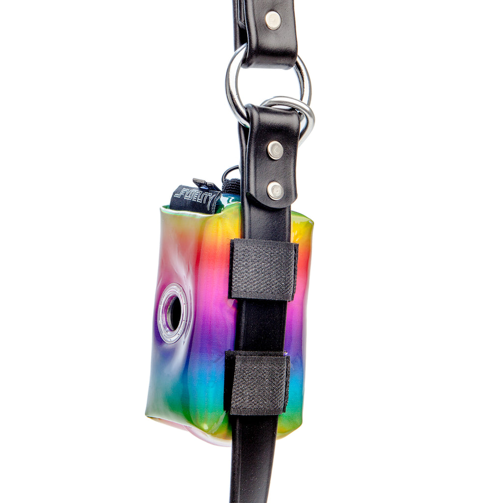 FYDELITY | Poopy Cute Poop Bag Holder in Metallic Rainbow