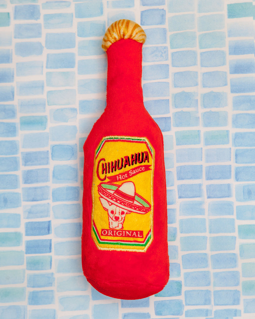 Hot Chihuahua Sauce Plush Dog Toy