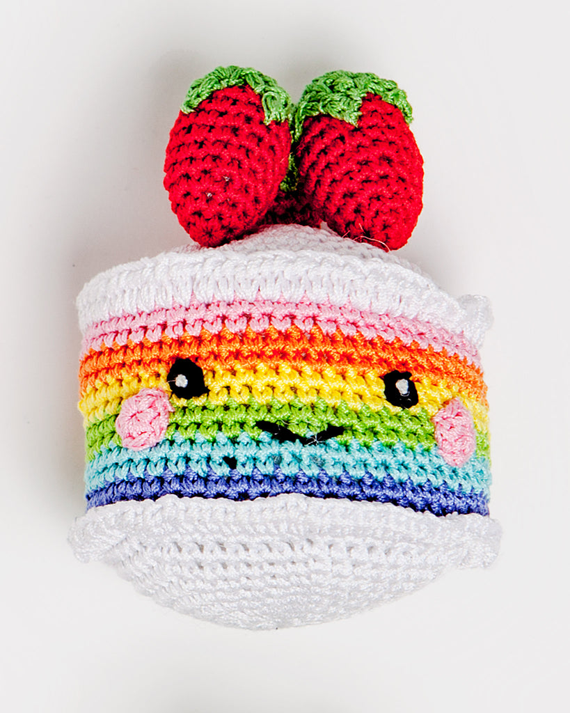 Rainbow Cake Organic Knit Toy