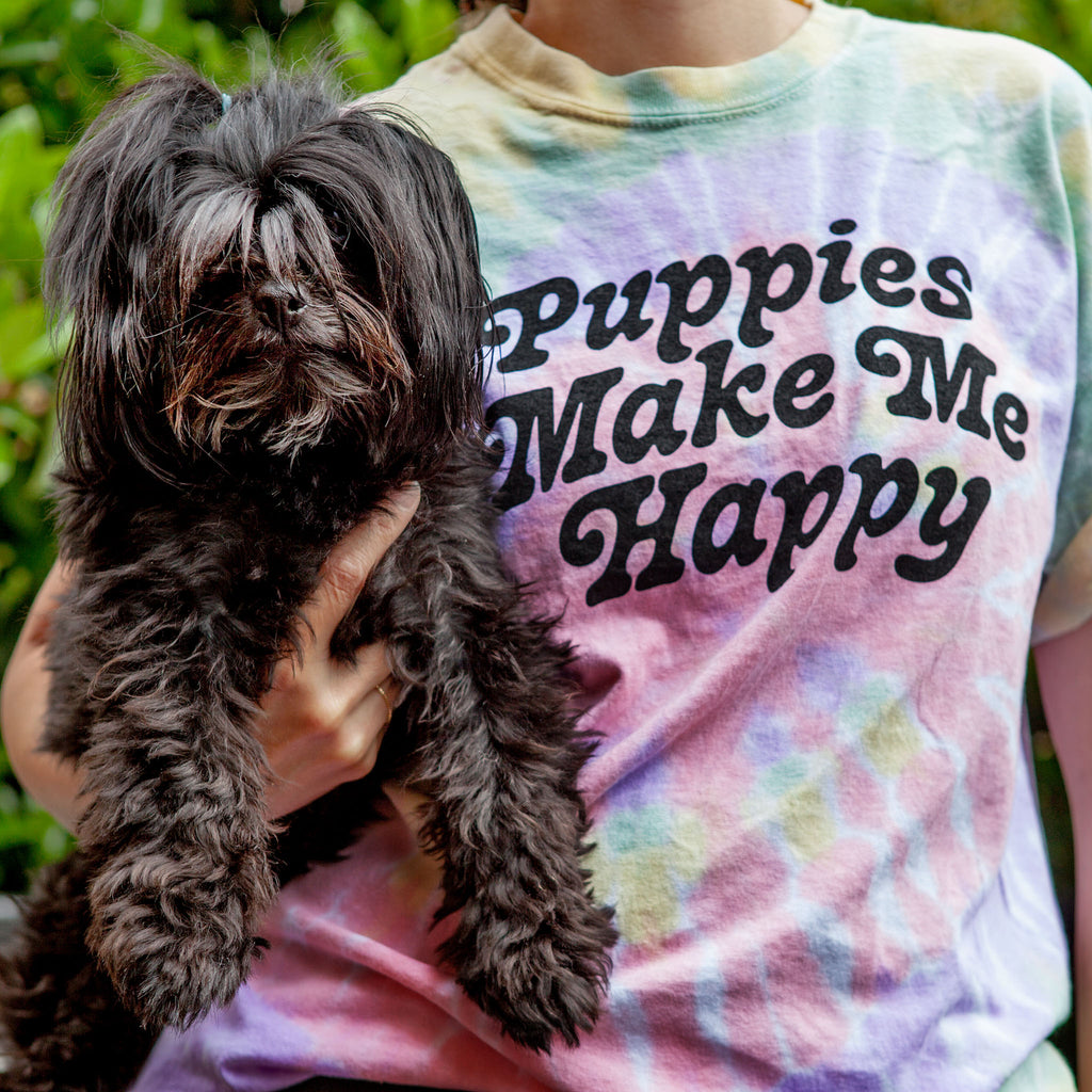 Puppies are Far Out Tie-Dye Unisex Tee