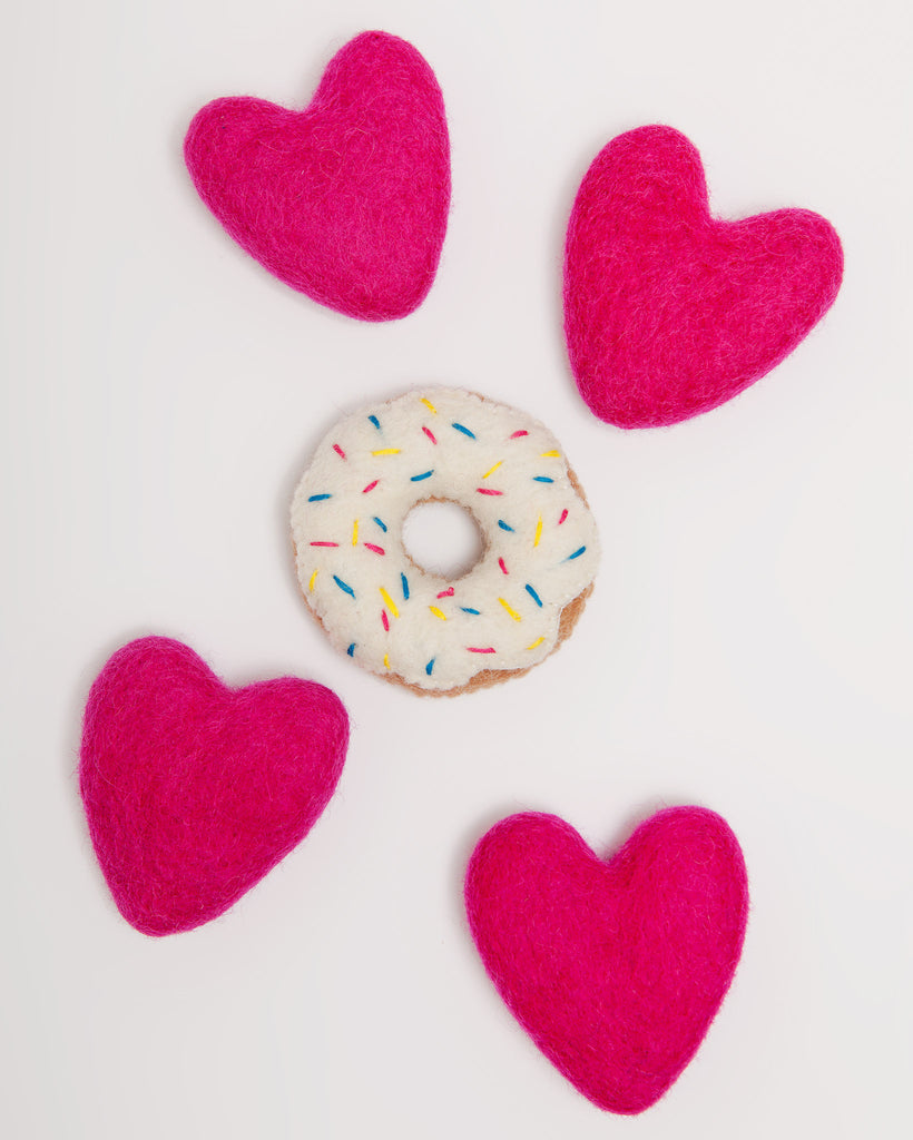 Vanilla Donut Cat Toy (Immediate Ship)