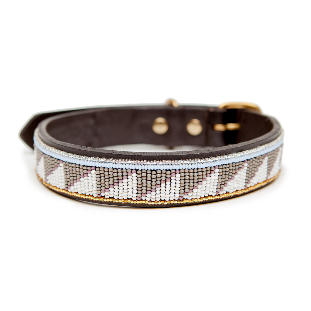 UBUNTU LIFE | Tribal Collar in Grey with Gold