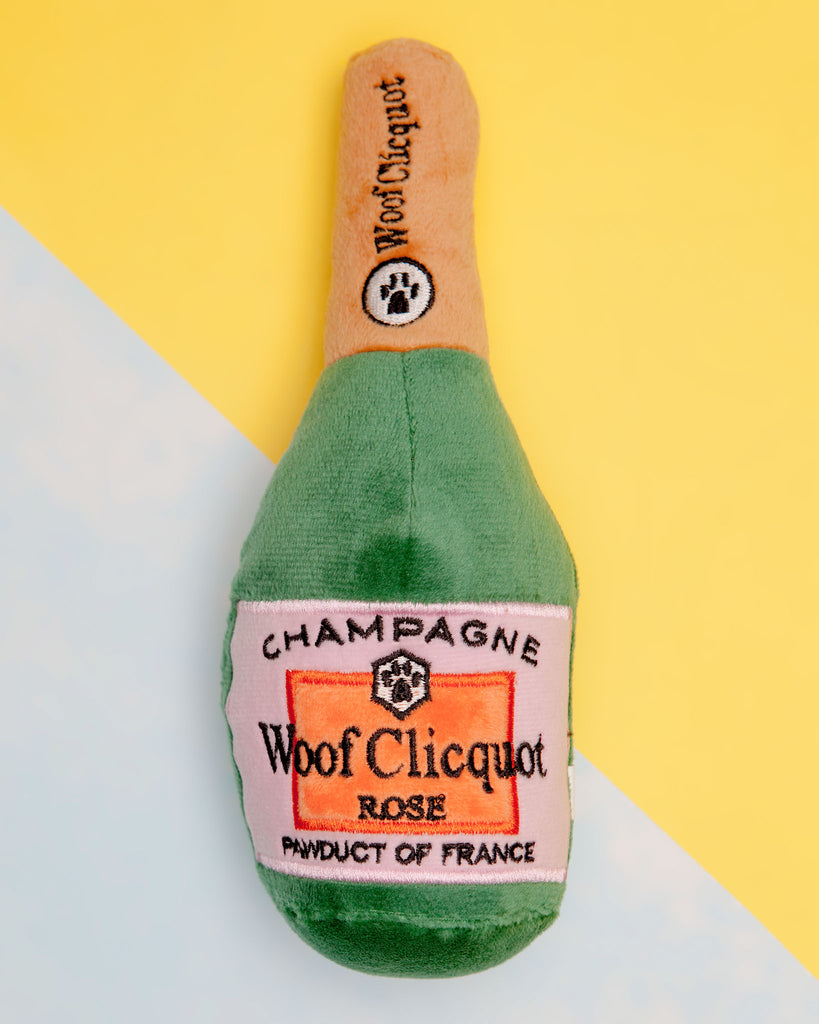Woof Clicquot Rosé Plush Dog Toy