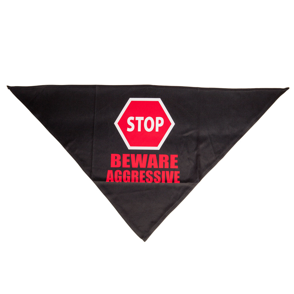 YELLOW DOG DESIGN | Beware Aggressive Sign Bandana