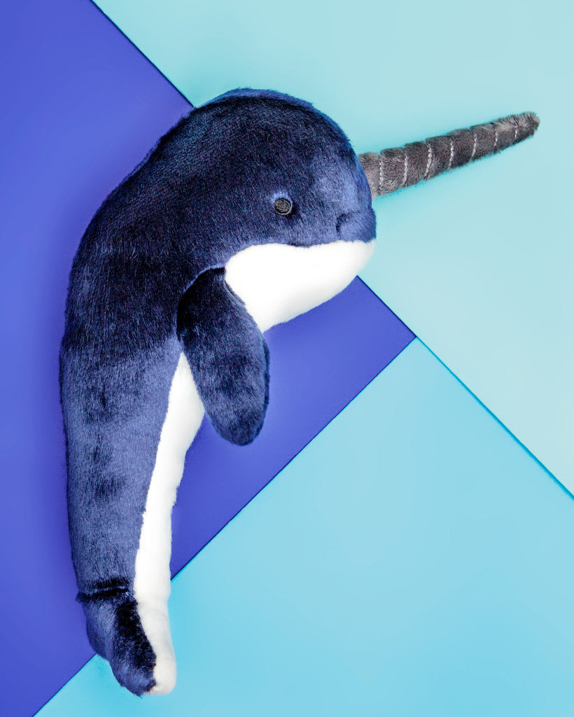 Bleu Narwhal Plush Dog Toy