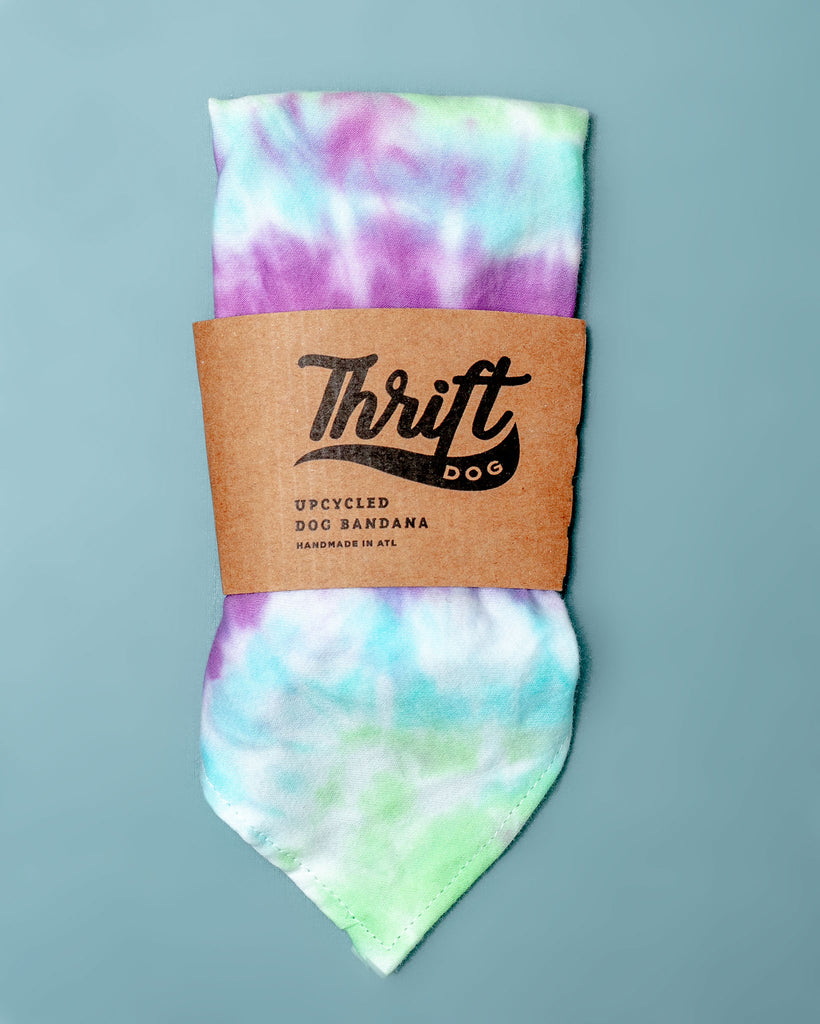 Tie-Dye Dog Bandana in Mood Ring (Made in the USA)