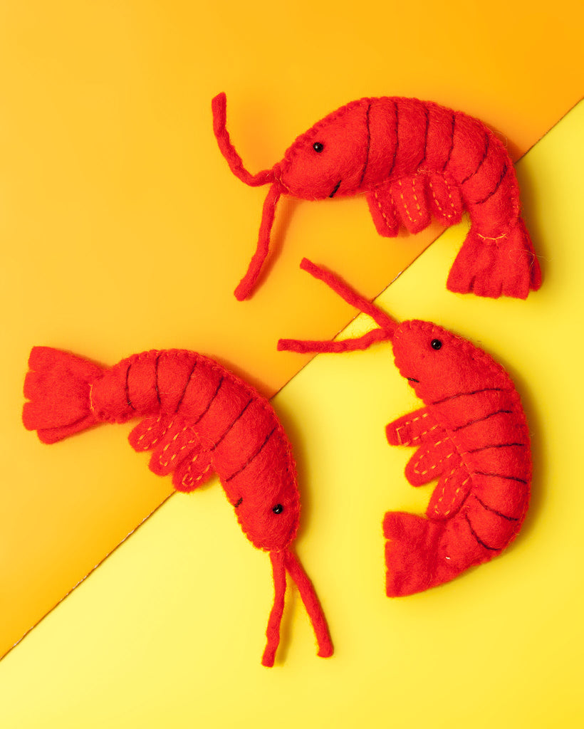 Wool Shrimp Cat Toy (Immediate Ship)