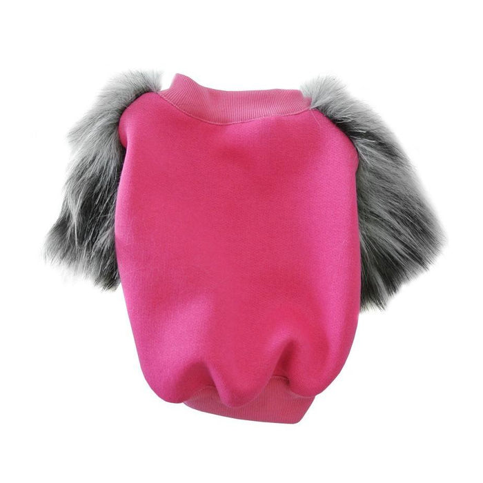 EYE OF DOG | Pinky Black Fluffa Fleece