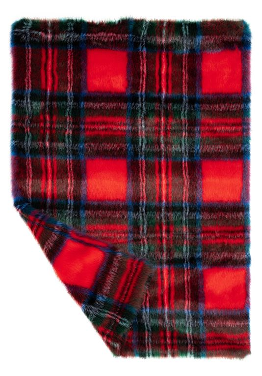 FABULOUS FURS | Pampered Pet Throw in Red Plaid
