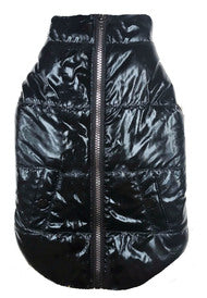 FAB DOG | Metallic Puffer Coat in Black