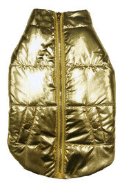 FAB DOG | Metallic Puffer Coat in Gold (BIG DOG SALE)