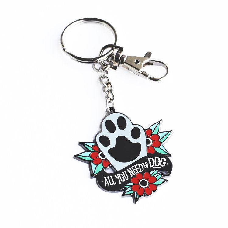 FIVE15 | All You Need is Dog Enamel Keychain