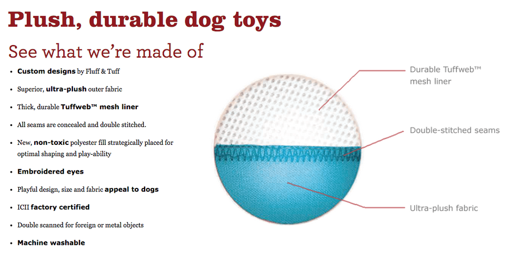 FLUFF & TUFF | Lady Bug Dog Toy