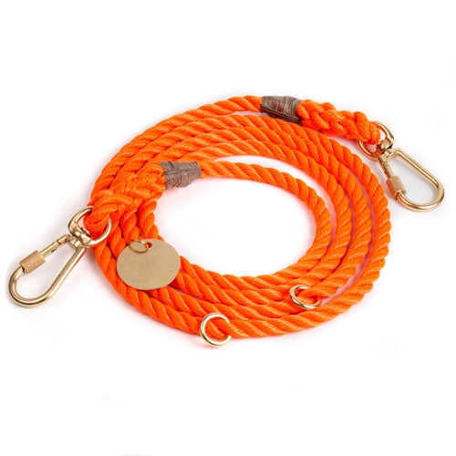 FOUND MY ANIMAL | Adjustable Rope Lead in Rescue Orange