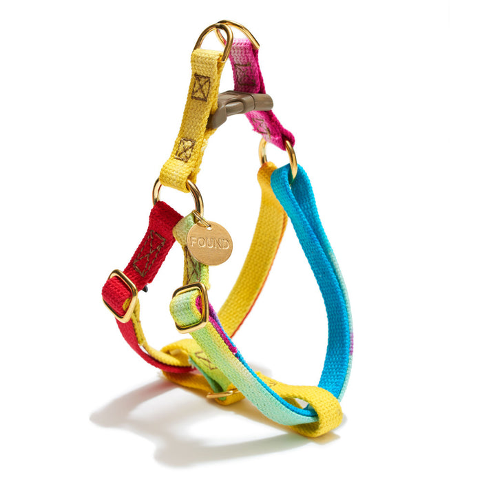 FOUND MY ANIMAL | Cotton Webbing Harness in Prismatic