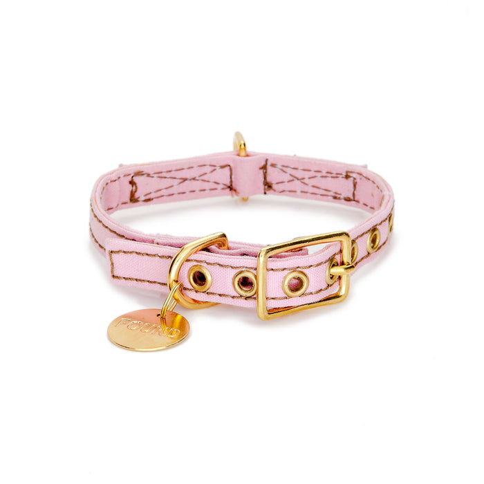 FOUND MY ANIMAL | Canvas Collar in Light Pink