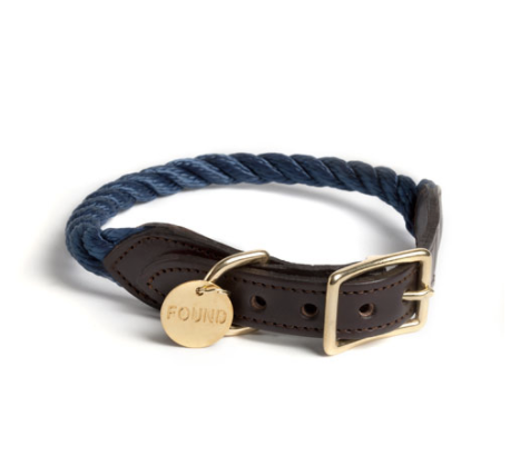FOUND MY ANIMAL | Rope Collar in Navy