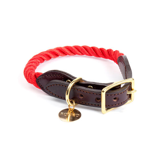 FOUND MY ANIMAL | Rope Collar in Red