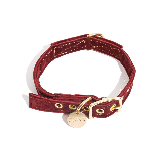 FOUND MY ANIMAL | Velvet Collar in Burgundy