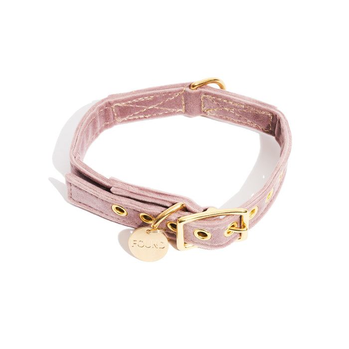 FOUND MY ANIMAL | Velvet Collar in Rose