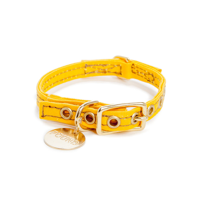 FOUND MY ANIMAL | Yellow Waxed Canvas Collar