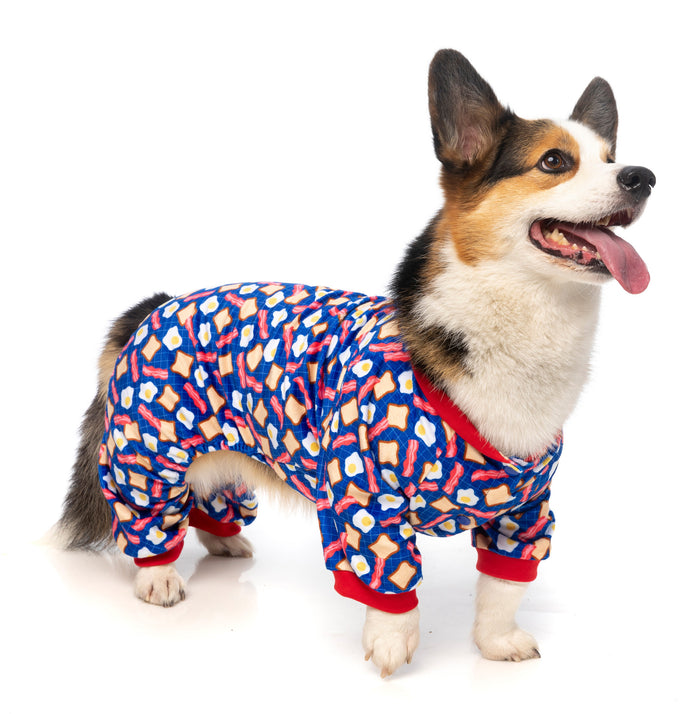FUZZYARD | Pup Pyjamas in Bacon & Eggs
