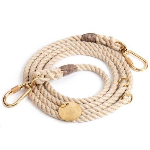 FOUND MY ANIMAL | Adjustable Rope Lead in Light Tan