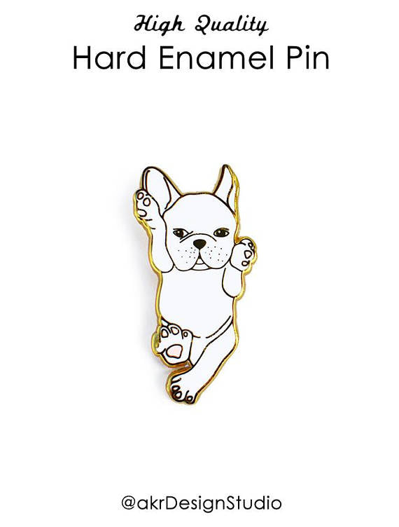 AKR DESIGN STUDIO | Baby Frenchie Enamel Pin