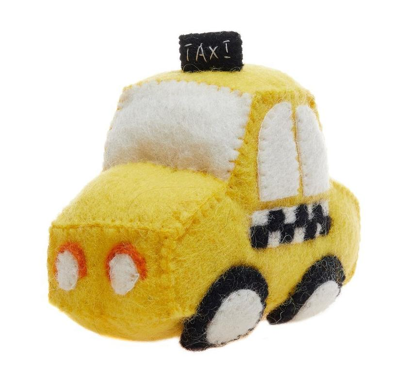 GLOBAL GOODS | Felt Taxi Toy