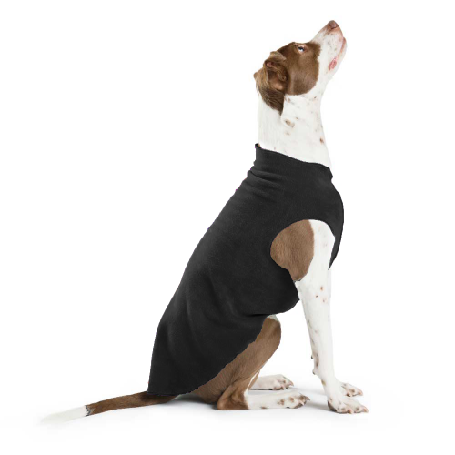 Pullover Stretch Dog Fleece in Black