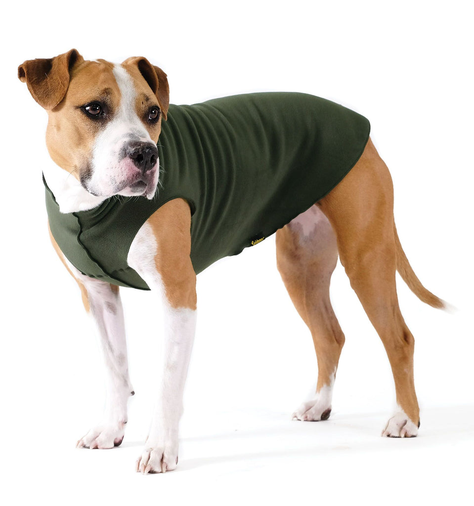 Stretch Fleece in Hunter Green