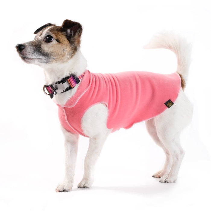 GOLD PAW | Stretch Fleece in Coral