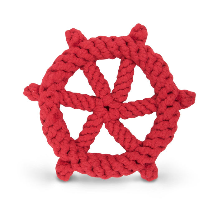 HARRY BARKER | Cotton Ship's Wheel Toy Red