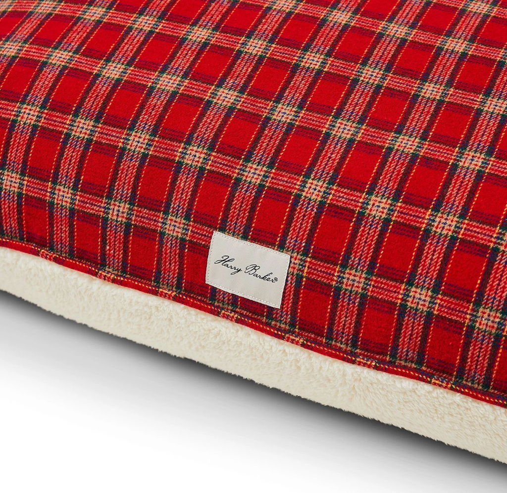 Rectangular Bed in Plaid Sherpa (Custom/Drop-Ship)