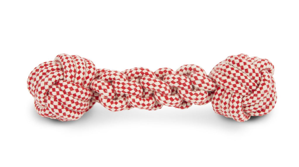 HARRY BARKER | Skipper Rope Toy in Red and White