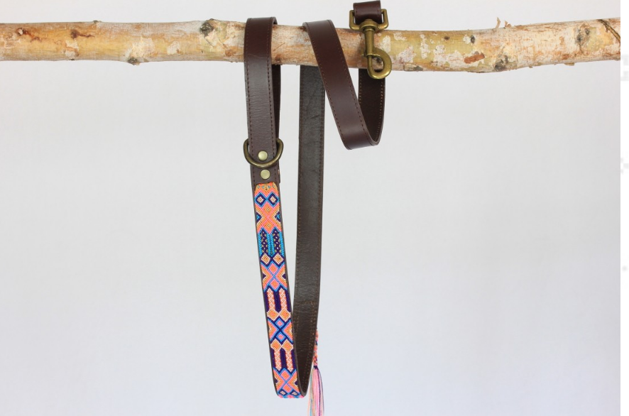 HEKA PET | Coral Woven Leather Leash