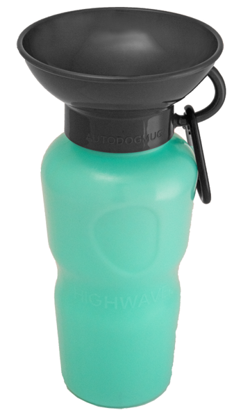 HIGHWAVE | Auto Dog Water Bottle in Seafoam