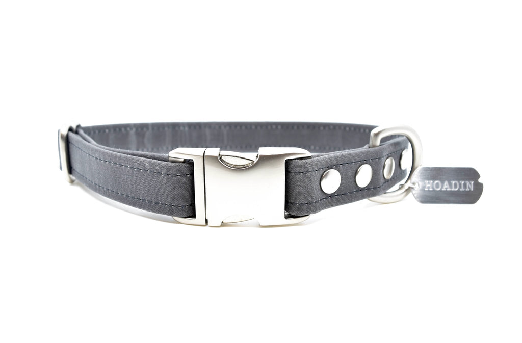 Waxed Canvas Collar in Charcoal (FINAL SALE)