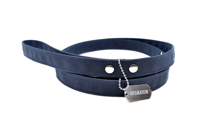 HOADIN | Waxed Canvas Leash in Midnight