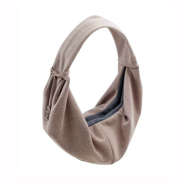 Los Angeles Dog Sling Bag in Taupe