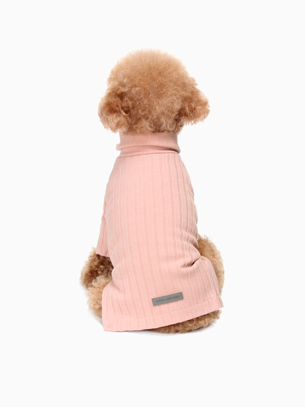 HUTS & BAY | Knit Collar Shirt in Pink