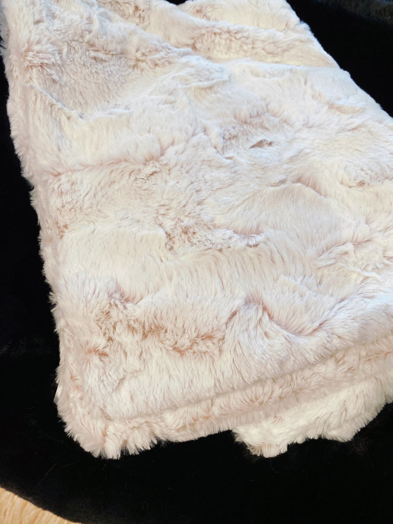 Frosted Rosewater Plush Dog Blanket