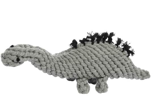 JAX & BONES | Stew the Stegosaurs Rope Toy in Grey