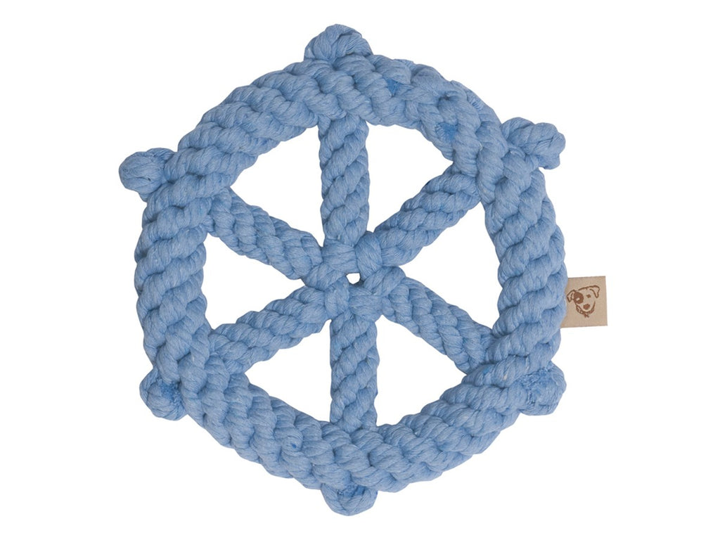 JAX & BONES | Wheel Rope Toy in Light Blue
