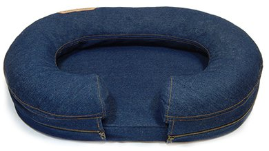 Chad Denim Bolster Bed