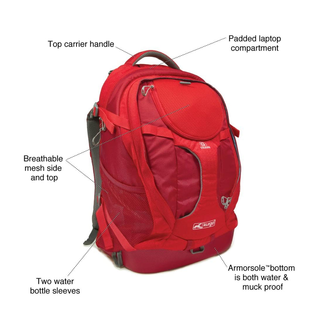 KURGO | G-Train Backpack in Red